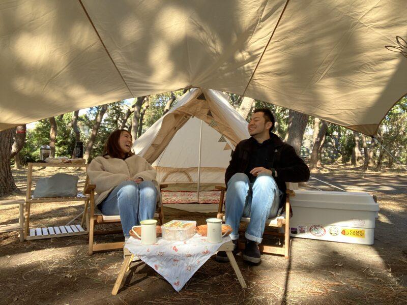 ワナキャン2人キャンプ
