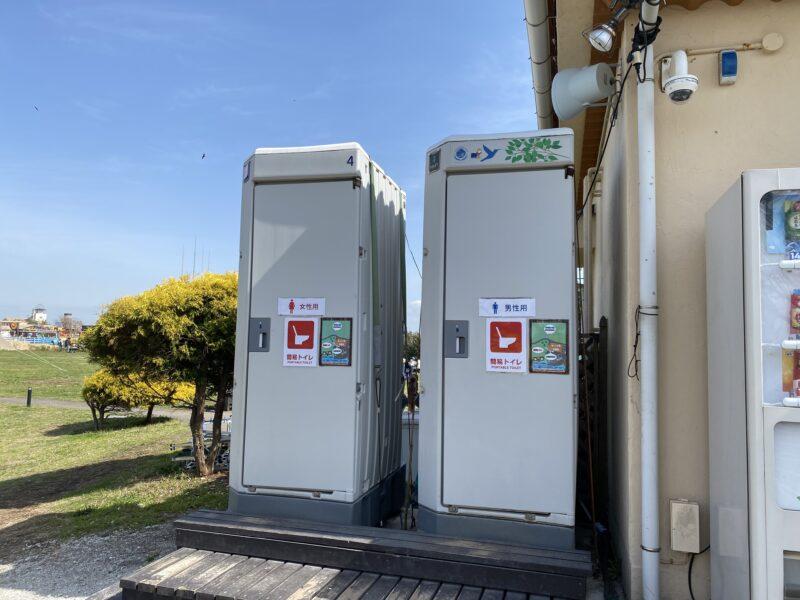 ソレイユの丘キャンプ場トイレ